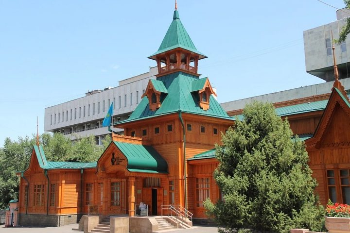 (was built in 1910 by architect Zenkov) hosts exhibitions of more than 297 ancient Kazakhstani and ancient Turk instruments
